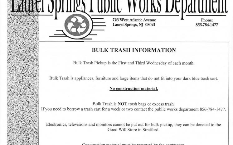 Bulk Trash Information